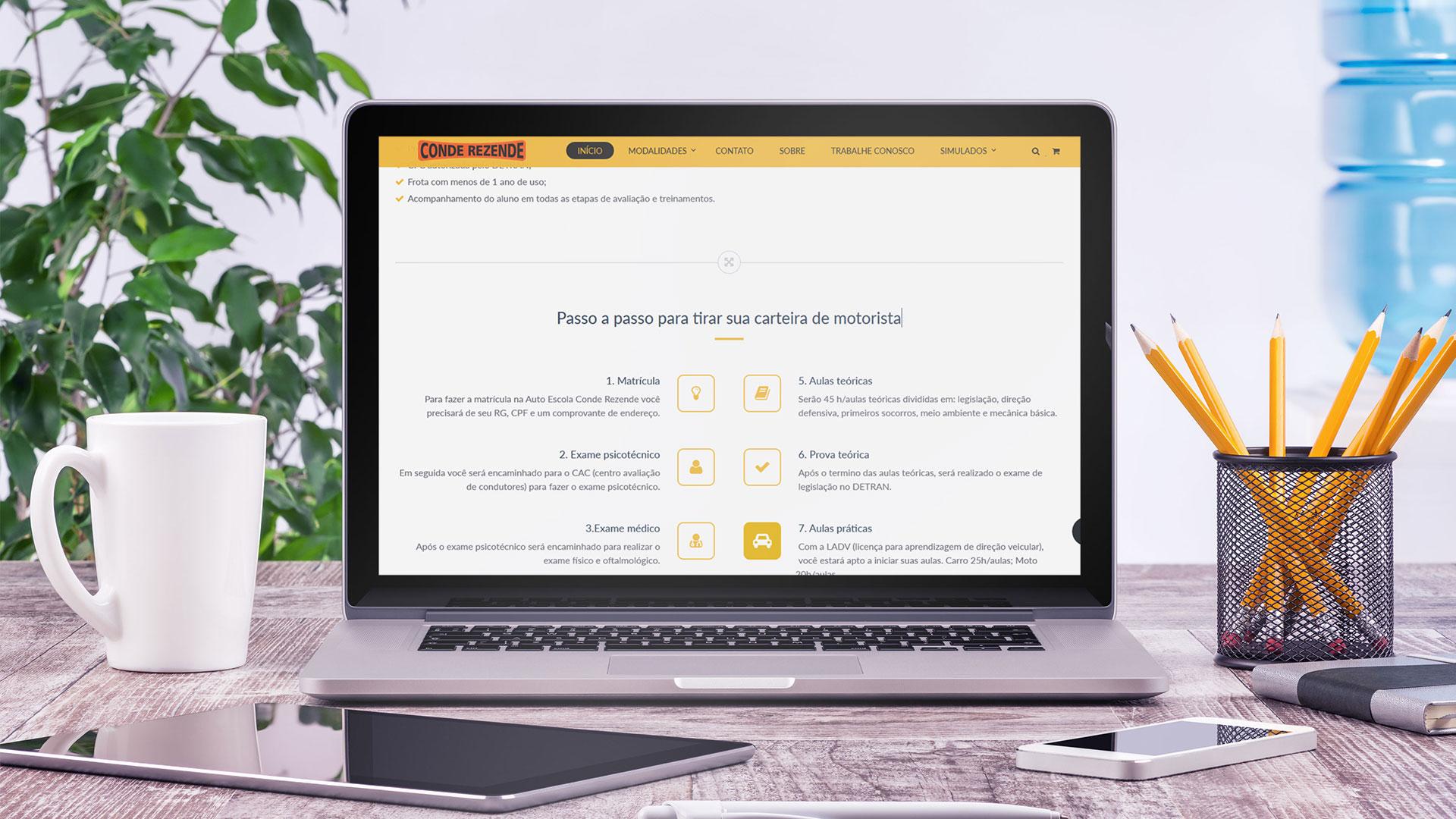 Site institucional Auto Escola Conde Rezende