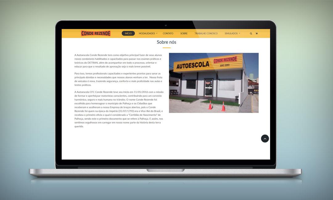 Site Auto Escola Conde Rezende